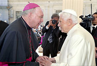 Bishop Kevin Farrell and Pope Benedict XVI
