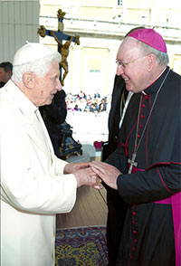 Pope Benedict XVI and Bishop Kevin Farrell